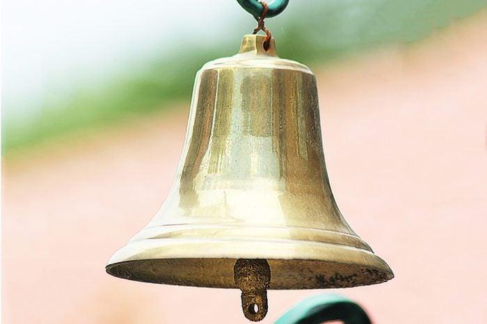Brass bell hanging