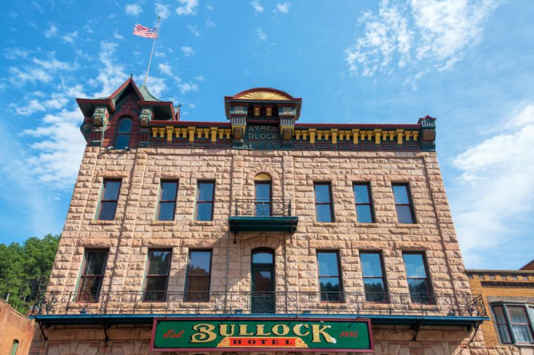 DEADWOOD, SD - AUGUST 26: View of the historic Bullock Hotel in Deadwood, SD on August 26, 2015