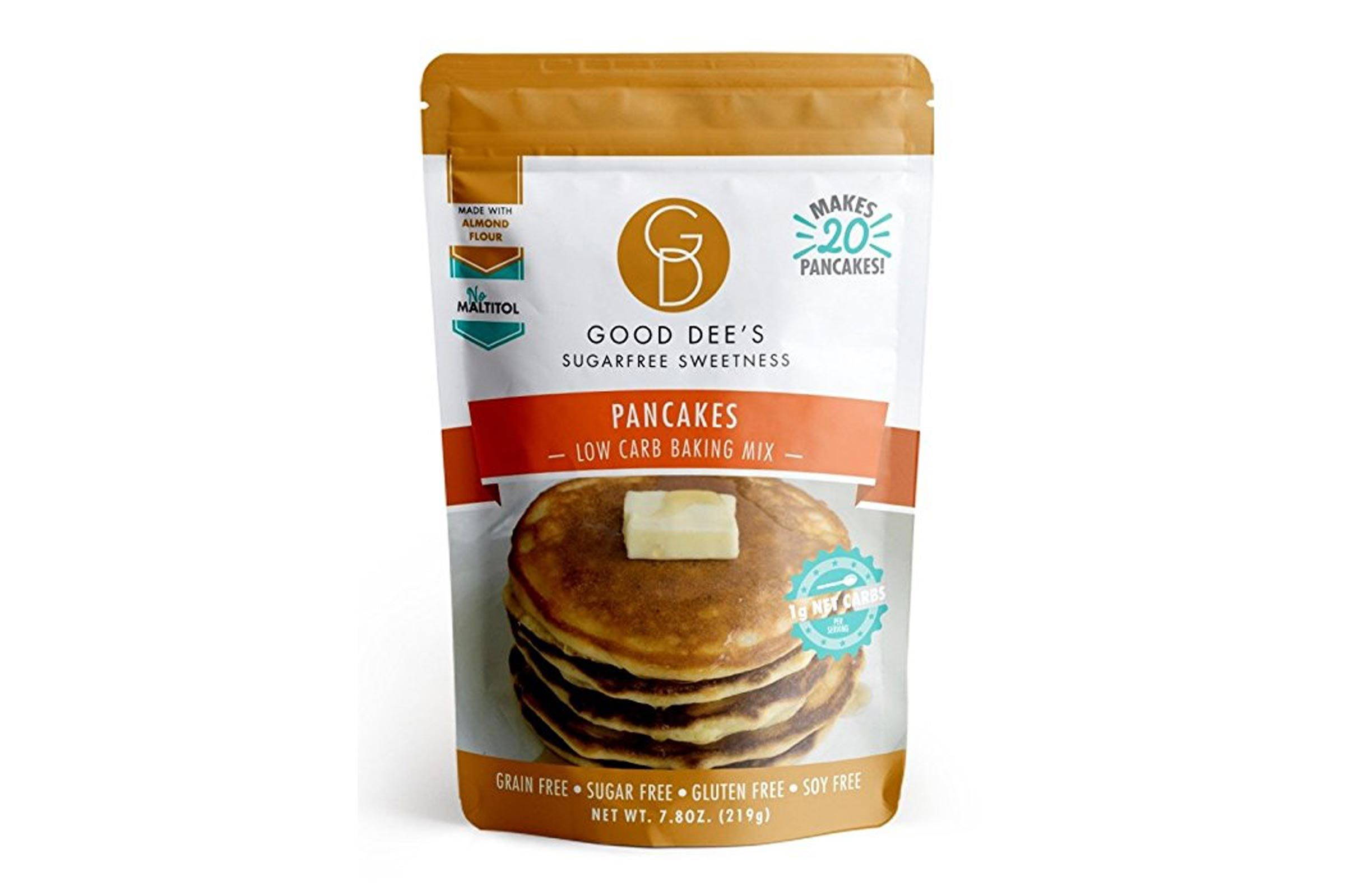 Good Dee's Pancake Mix- Gluten free, Grain Free, and made with Almond Flour 7.8oz