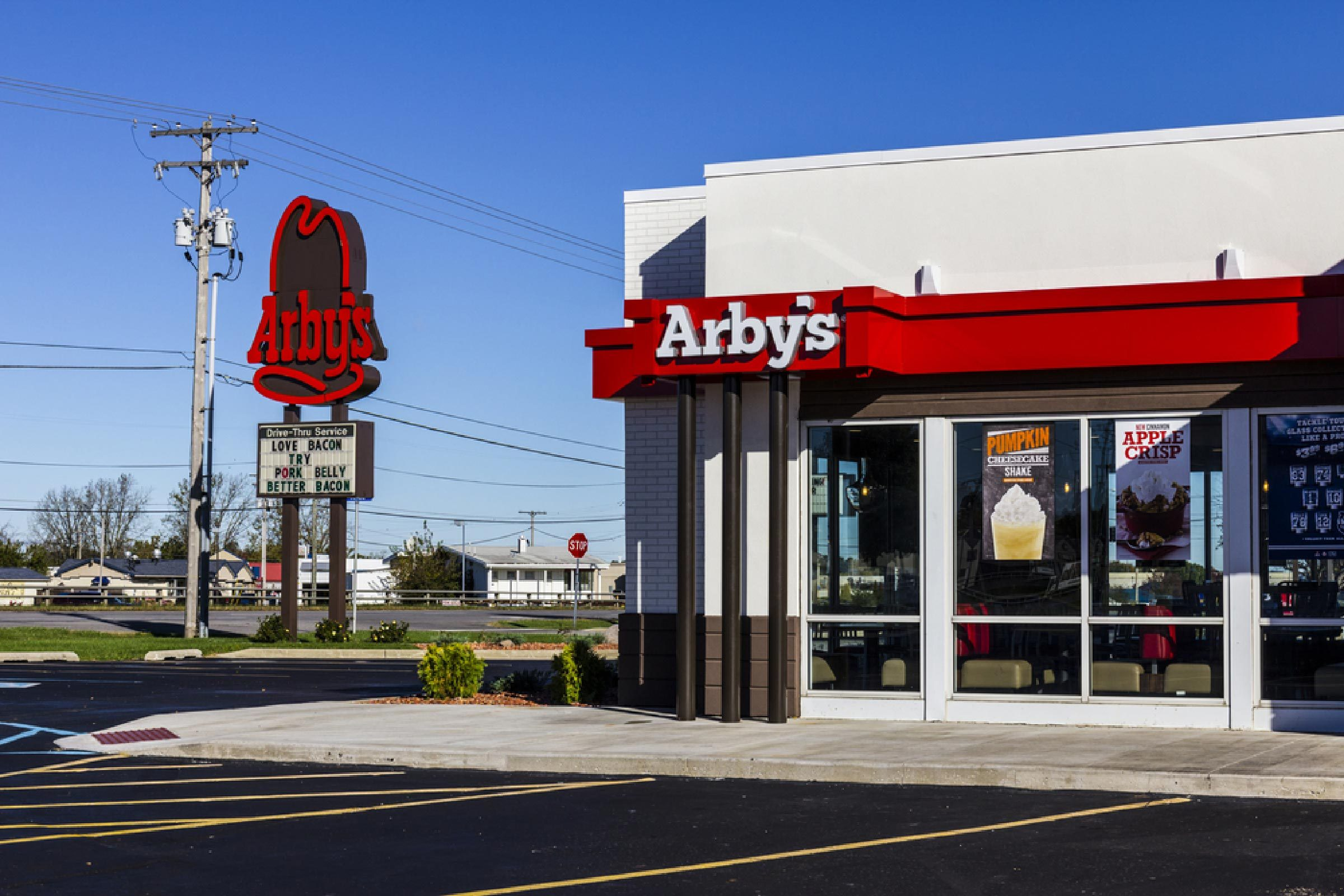Indianapolis - Circa October 2016: Arby's Retail Fast Food Location. Arby's operates over 3,300 restaurants I
