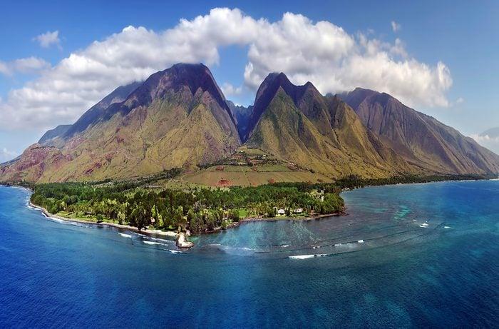 Drone Aerial Panorama - Island of Maui, Hawaii