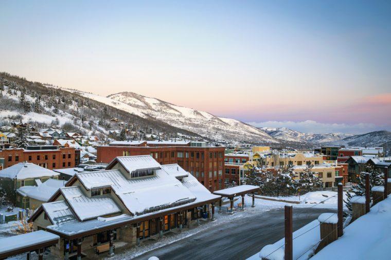 Winter Morning in Park City, Utah, USA.