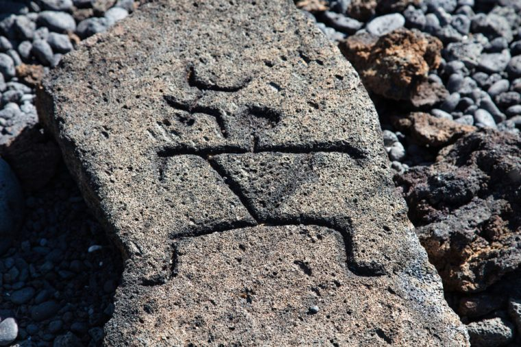 Petroglyphs on the Big Island of Hawaii