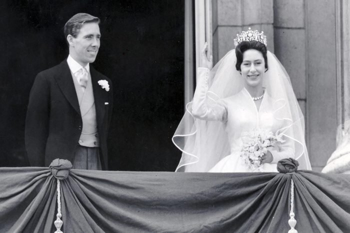 Princess Margaret's Wedding Princes Margaret And Mr Antony Armstrong-jones (lord Snowdon) Were Married At Westminster Abbey. The Bride And Bridegroom On The Balcony At Buckingham Palace.