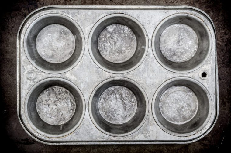 Muffin pan background