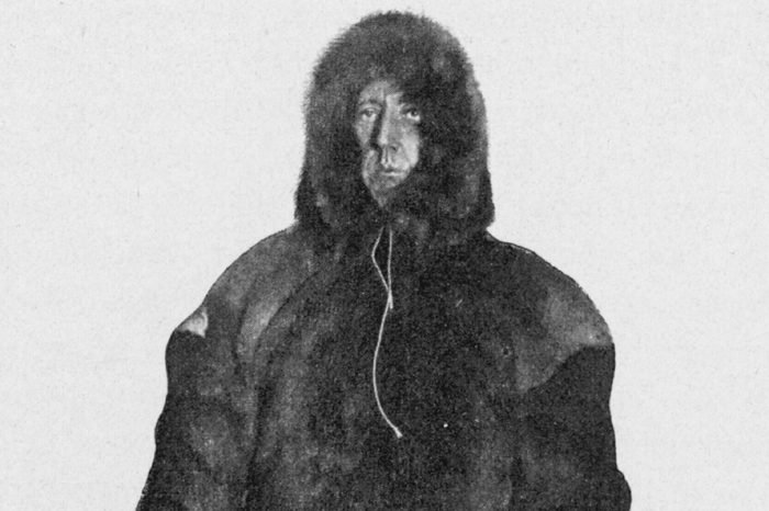 Roald Amundsen the First to Reach the South Pole Did So On 14 December 1911 and Returned Home Safely Amundsen in His 'Polardragt' (pole-dress) 1911