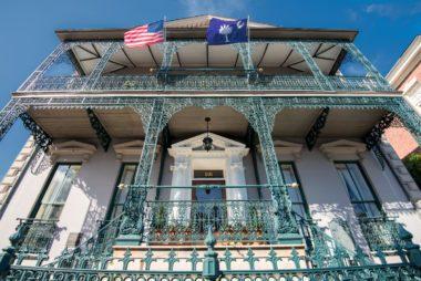 CHARLESTON, SC, USA -OCTOBER 13: John Rutledge House on October 13, 2014 in Charleston, SC. The house from 1763 is a National Historic Landmark, which currently serves as an inn