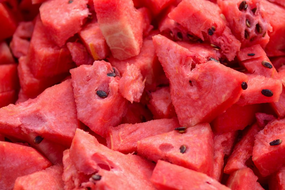 Slices of Watermelon, Close up view