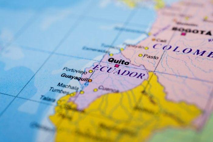 Ecuador map background