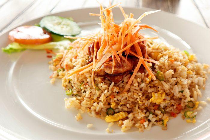 Nasi Goreng. Fried Rice Indonesian Food.