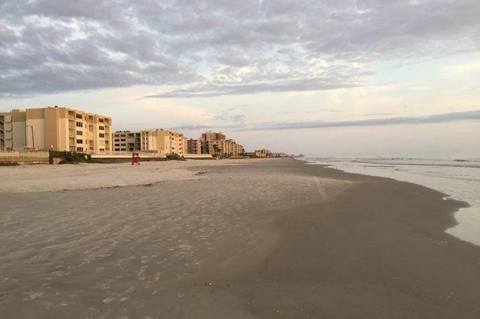New Smyrna Beach, Florida Looking North Toward Castle Reef Condominiums