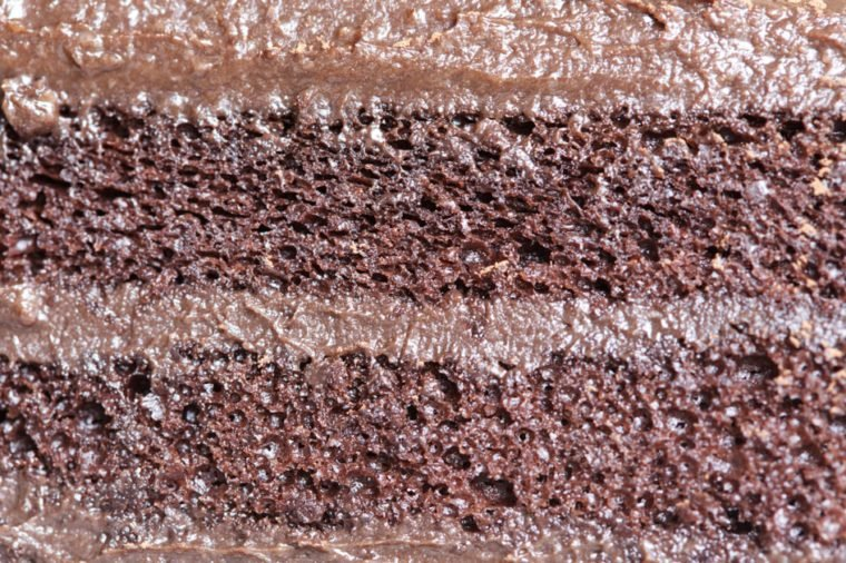 Cake chocolate close up