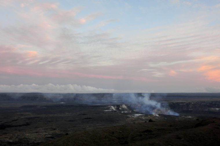 Hawaii volcano national park Kilauea crater caldera