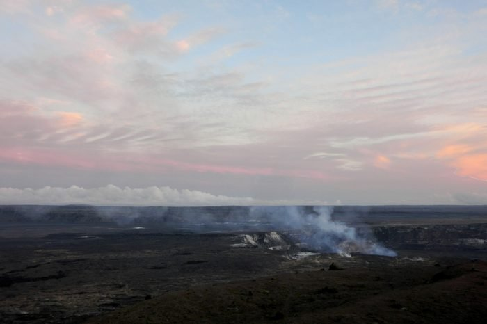 Hawaii volcano national park Kilauea crater caldera