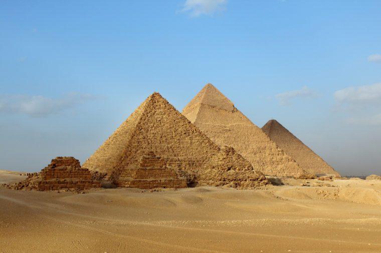 Egyptian Giza three pyramids