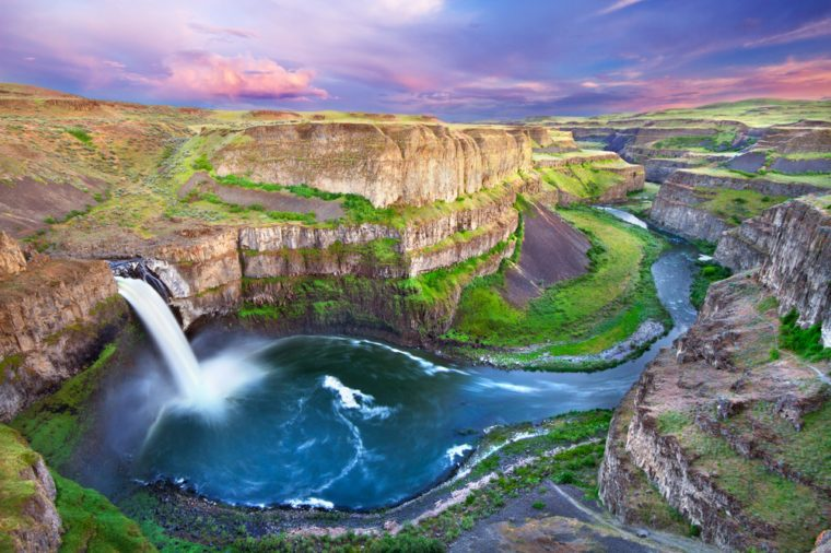 The Palouse Falls in Washington, USA