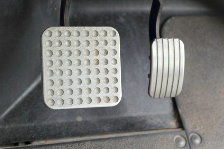 Brake and accelerator pedal for cars.