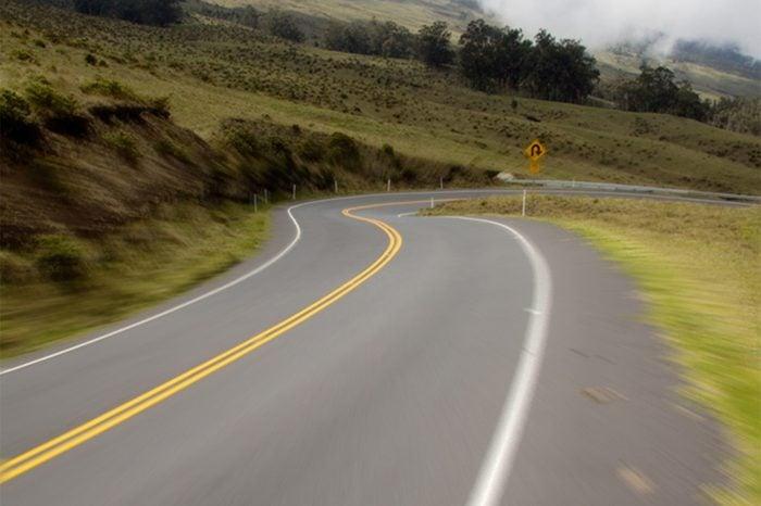biking down haleakala highway