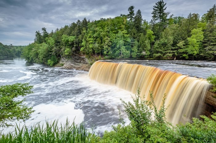 Tahquamenon Falls in Michigan's eastern Upper Peninsula. This beautiful waterfall is said to be the second largest in the United States east of the Mississippi River.