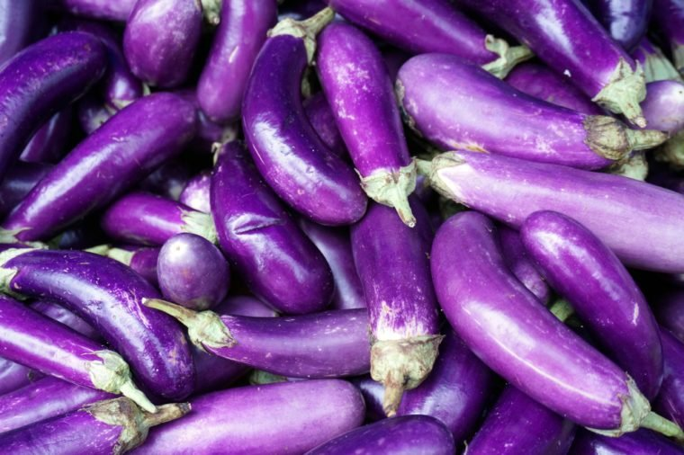 egg plants , selective focus and swallow DOF