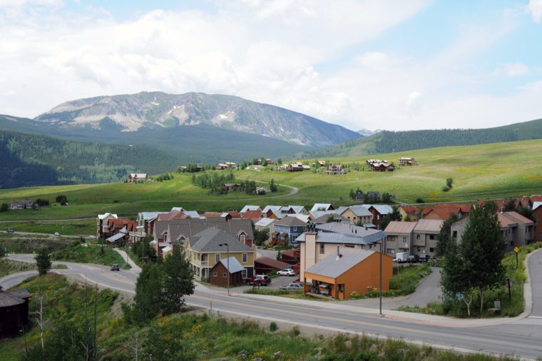 Mountain Community - A small mountain community near Crested Butte, Colorado, USA.