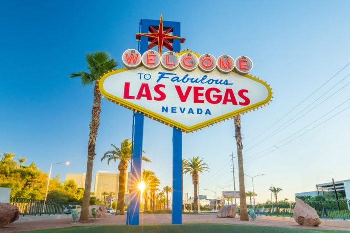 The Welcome to Fabulous Las Vegas sign in Las Vegas, Nevada USA