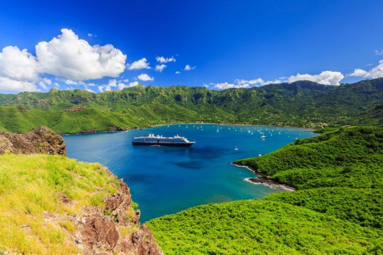 Nuku Hiva, Marquesas Islands. Bay of Taiohae, French Polynesia.