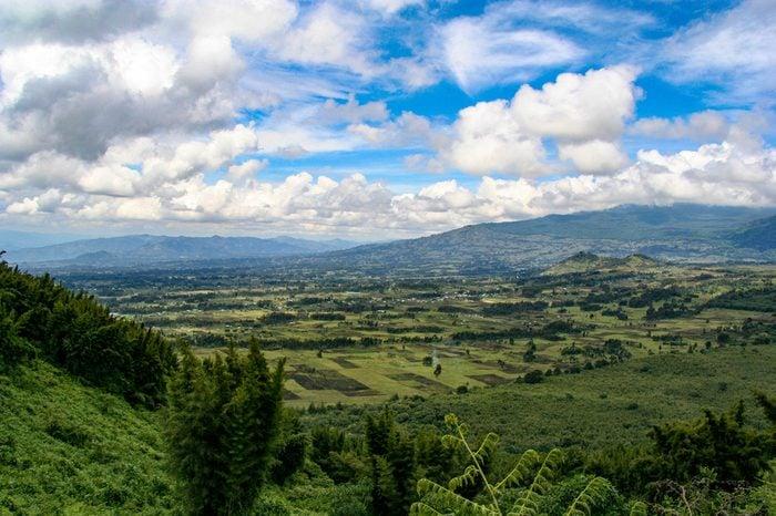 Stunning landscape in Volcanoes National Park in Rwanda