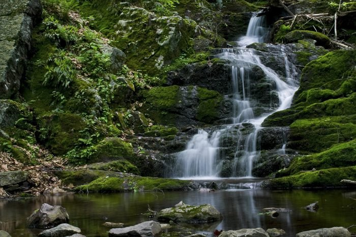 A view of Buttermilk Falls in Stokes State Forest, North Western New Jersey.