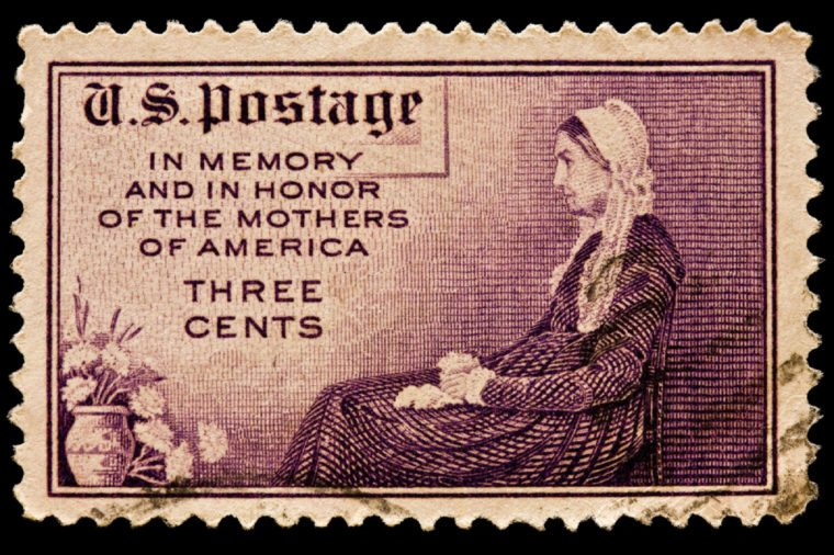 UNITED STATES - CIRCA 1960's : A stamp printed in United States. Mother's Day postal stamp. Adaption of Whistler's portrait of his mother. United States - CIRCA 1960's