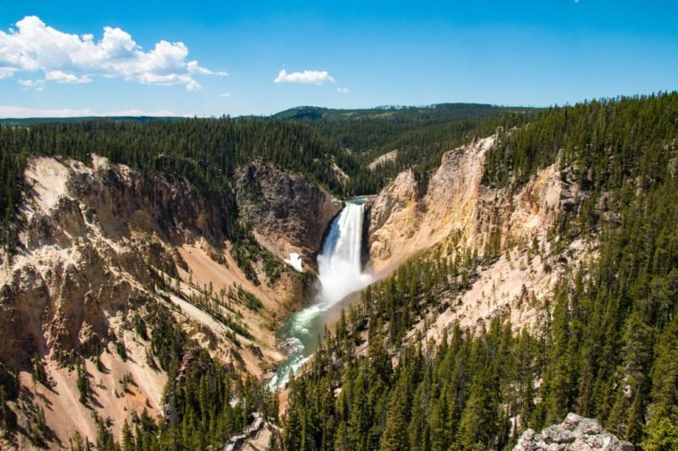 Upper Yellowstone Falls in Yellowstone National Park, Wyoming, United States