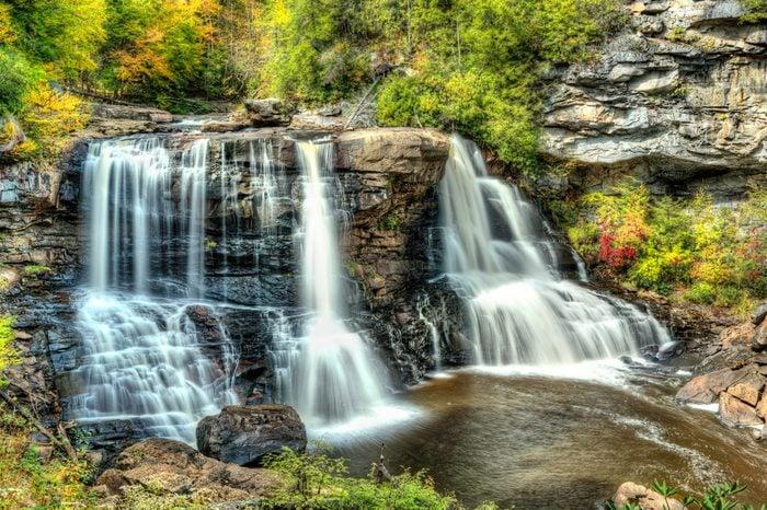 Blackwater Falls in State Park in West Virginia