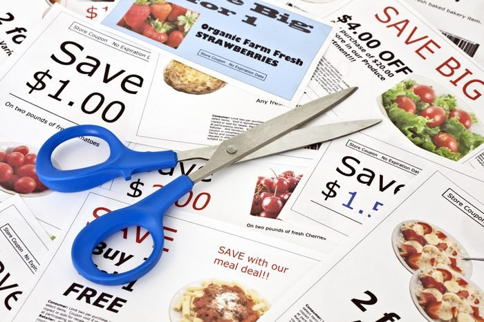 Fake coupon background with Scissors. All coupons were created by the photographer. Images in the coupons are the photographers work and are included in the release.