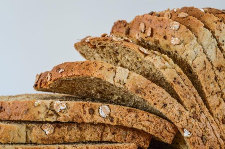 Sliced Multi Grain Bread closeup