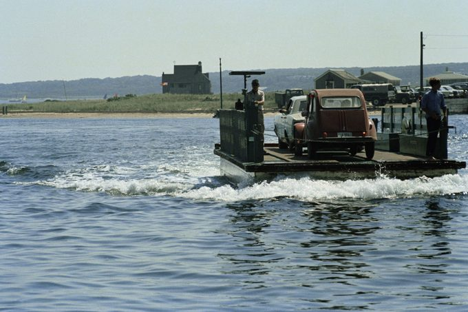 ferry with a cars Chappaquiddick Island