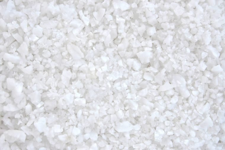 Close up of salt background. Natural salt