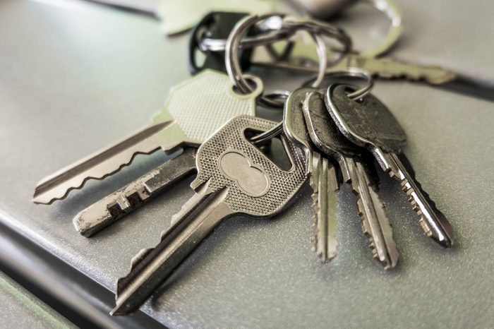 A bunch of key with key chain