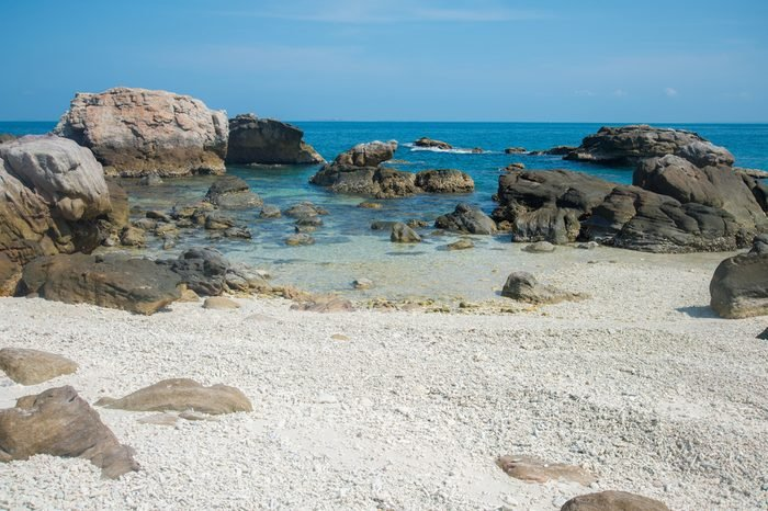 The beach in Arnhem land of Northern Territory state of Australia.