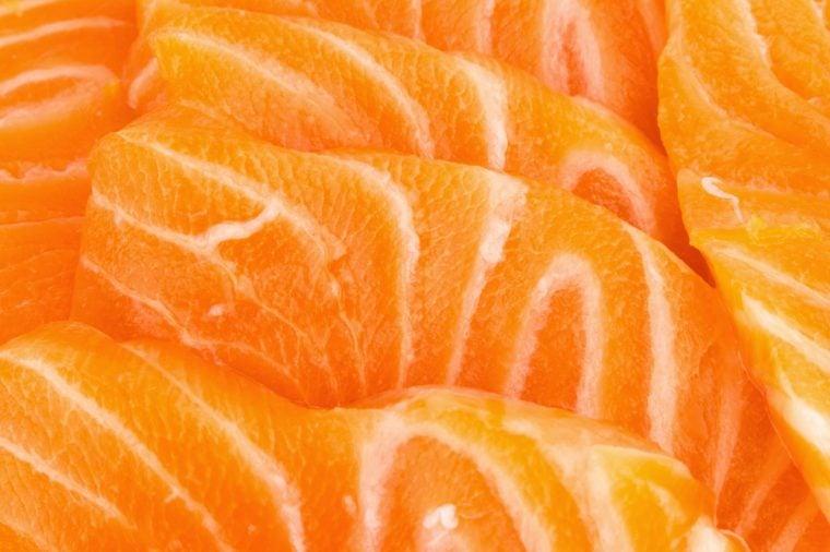 salmon close up texture.