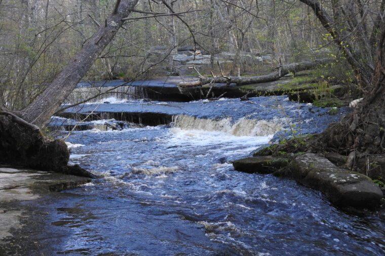 Stepstone Falls in Rhode Island