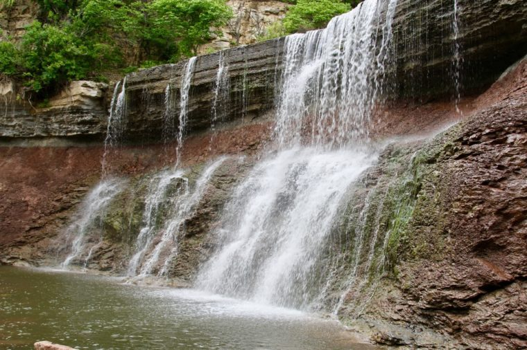 Cowley County State Lake Waterfall/Kansas