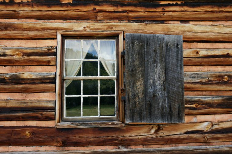 Log Cabin Window at the Zebulon Vance Birthplace