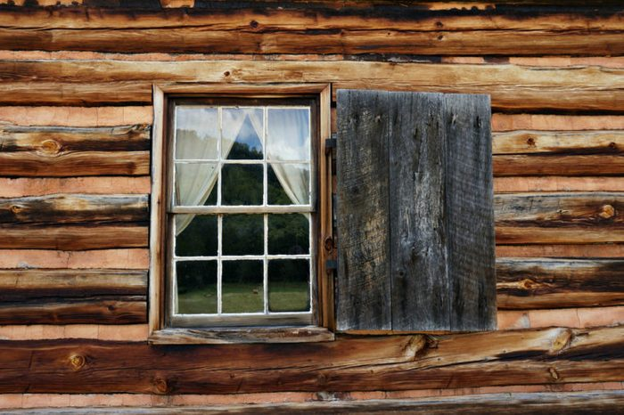 Log Cabin Window at the Zebulon Vance Birthplace