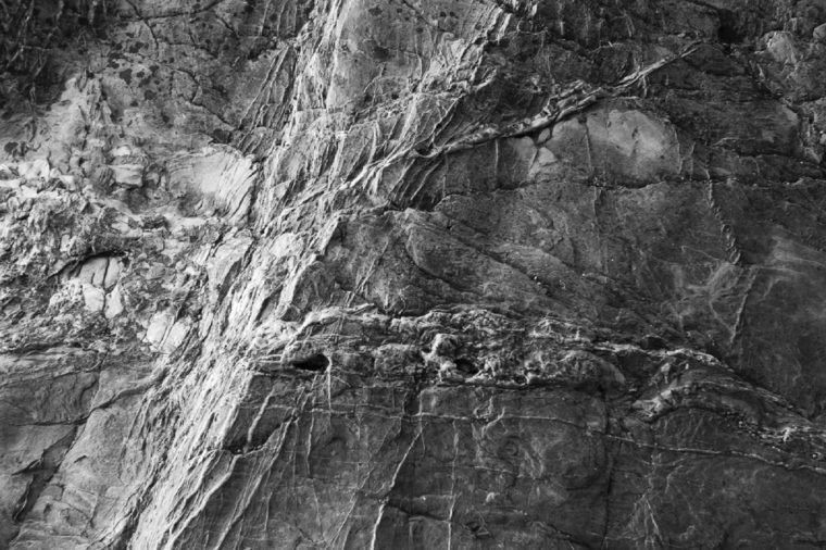 Close up rock textures from the South coast of Devon
