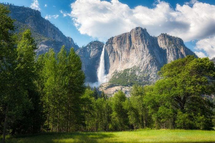 Upper Falls in Yosemite National Park, California