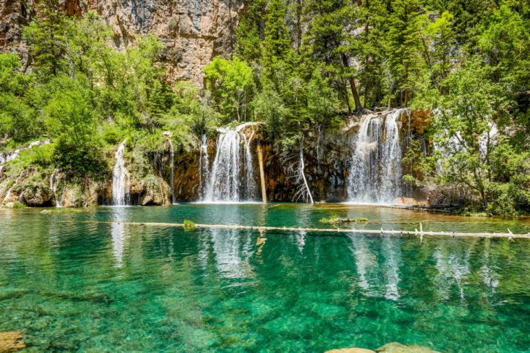 Tranquil scene of Hanging Lake Waterfall, Colorado, USA