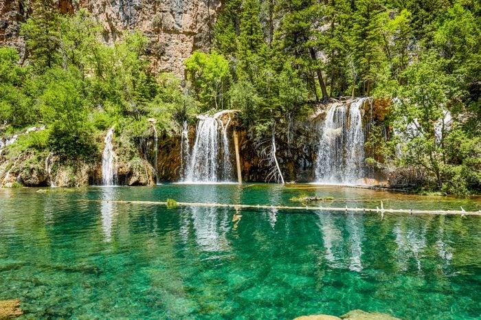 Tranquil scene of Hanging Lake Waterfall, Colorado, USA