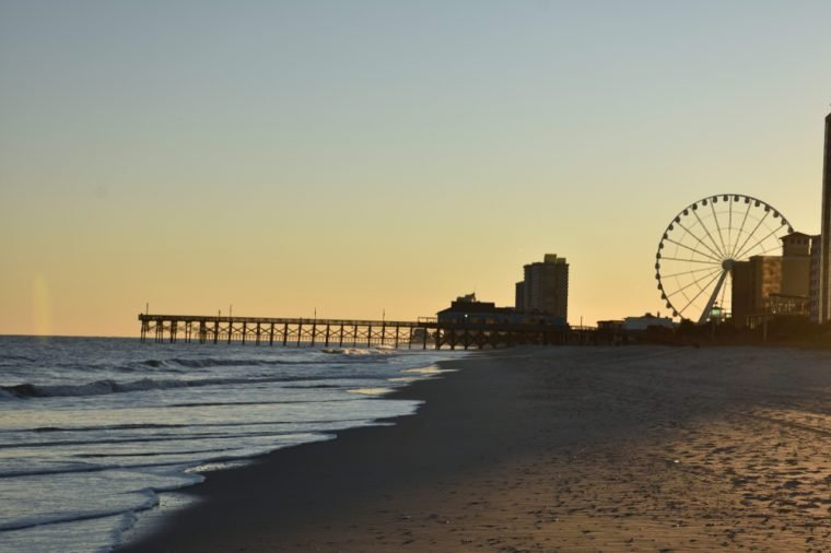 Sunset in Myrtle Beach South Carolina