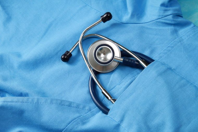 Doctor coat with stethoscope