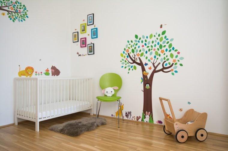 Scandinavian style colorful nursery